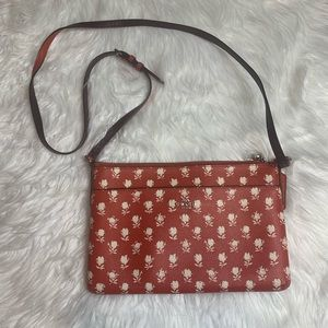 Coach White Floral on Red Mini Crossbody Bag